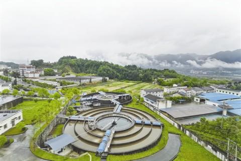 太平溪鎮污水處理廠對收集的污水進行凈化處理